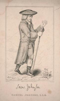etching showing Samual Johnson