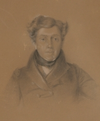 pencil drawing of George Augustus Robinson