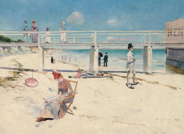 Conder_A holiday at Mentone_1888
