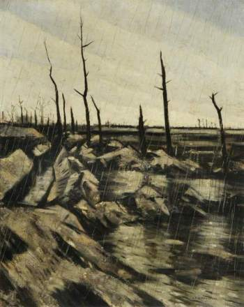 Nevinson, Christopher Richard Wynne, 1889-1946; Rain and Mud after the Battle