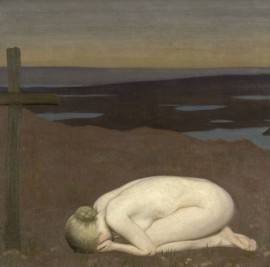 youth mourning 1916 clausen iwm-art-004655